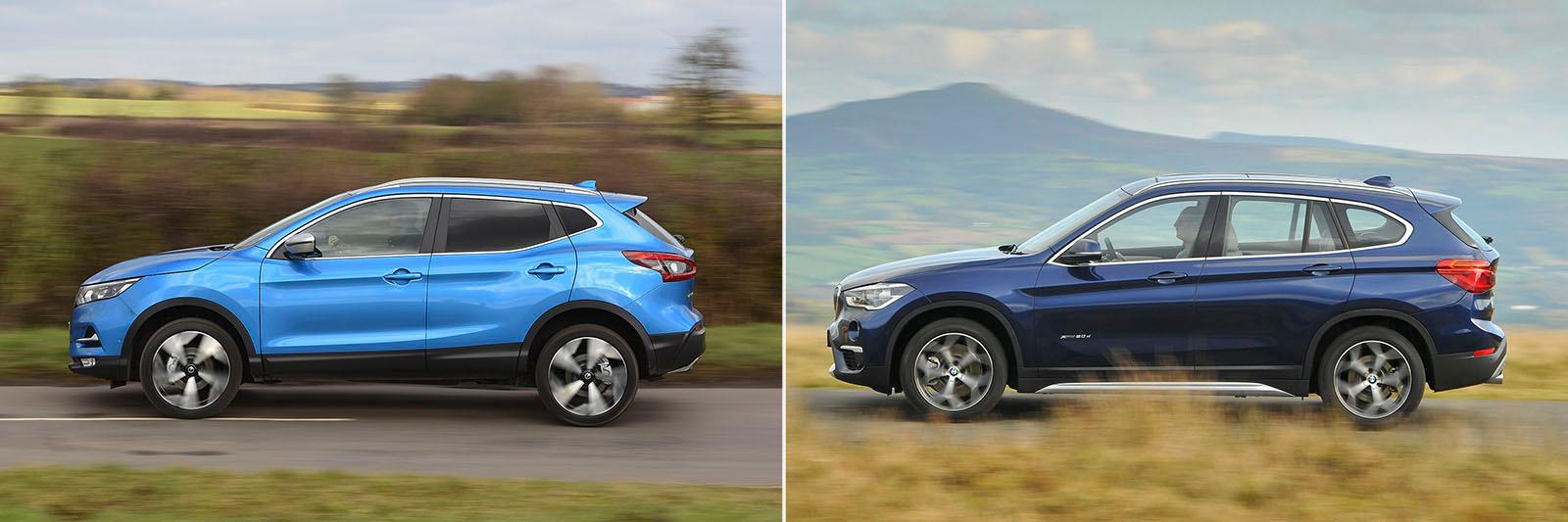 New Nissan Qashqai vs used BMW X1: which is best?