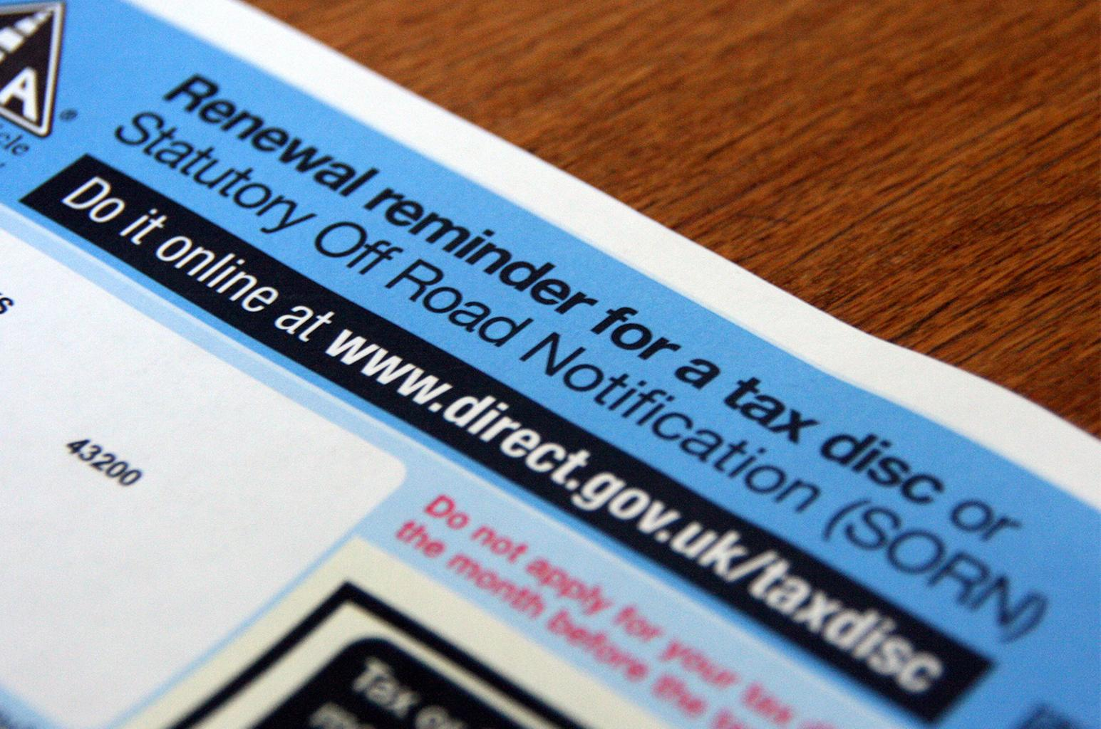 Surge in road tax evasion could cost more than £100m a year