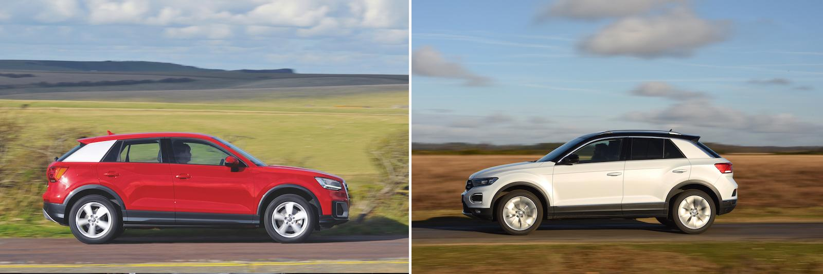 New Volkswagen T-Roc vs used Audi Q2: which is best?