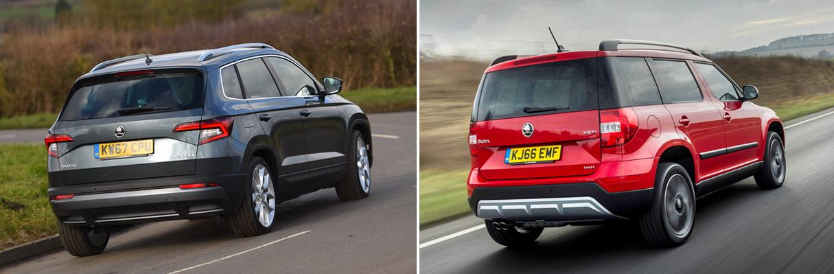 New Skoda Karoq vs Skoda Yeti