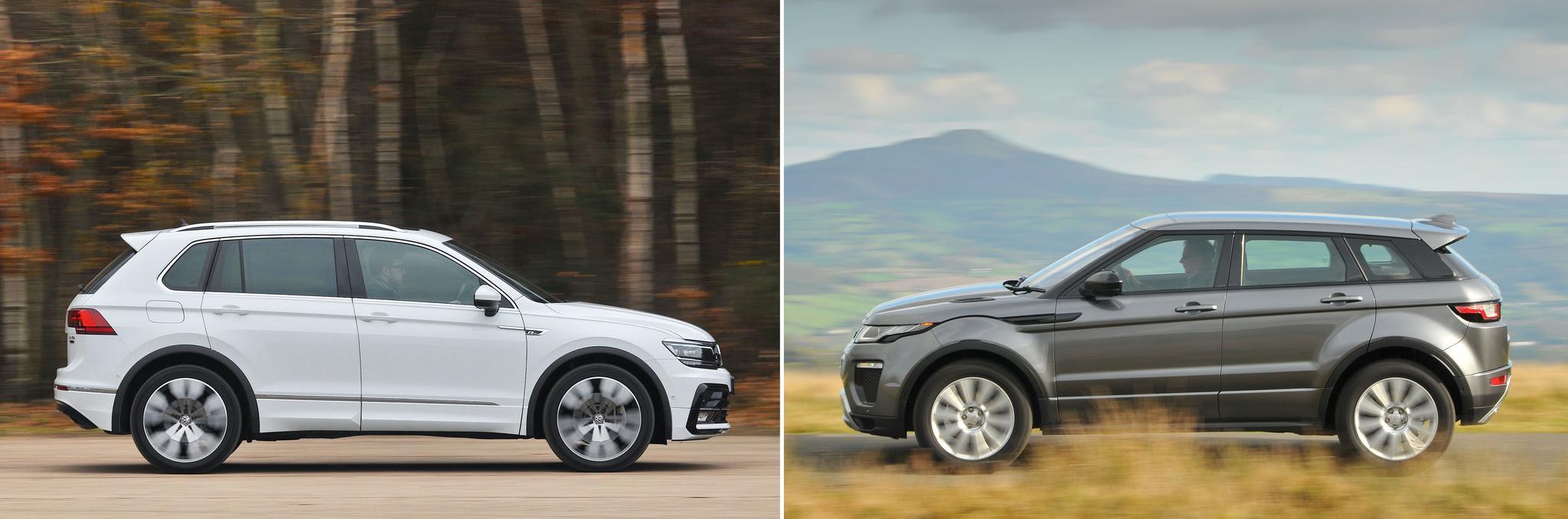 New Volkswagen Tiguan vs used Range Rover Evoque: which is best?