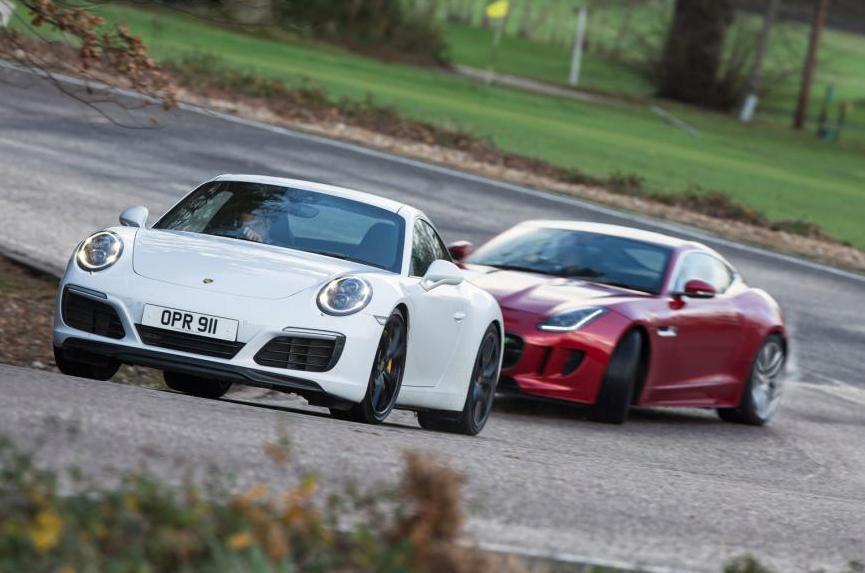 Porsche 911 Carrera S vs Jaguar F-Type R Coupe