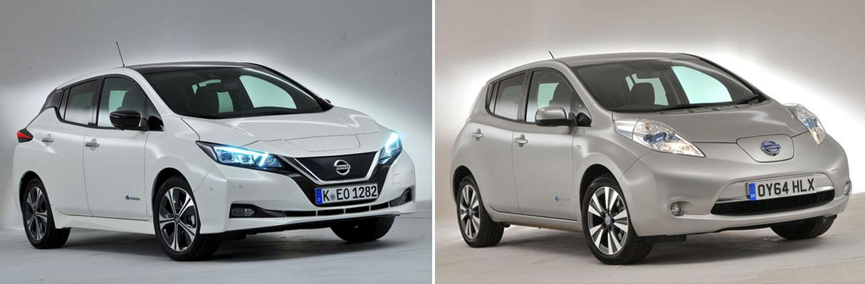 Nissan Leaf: new vs old compared