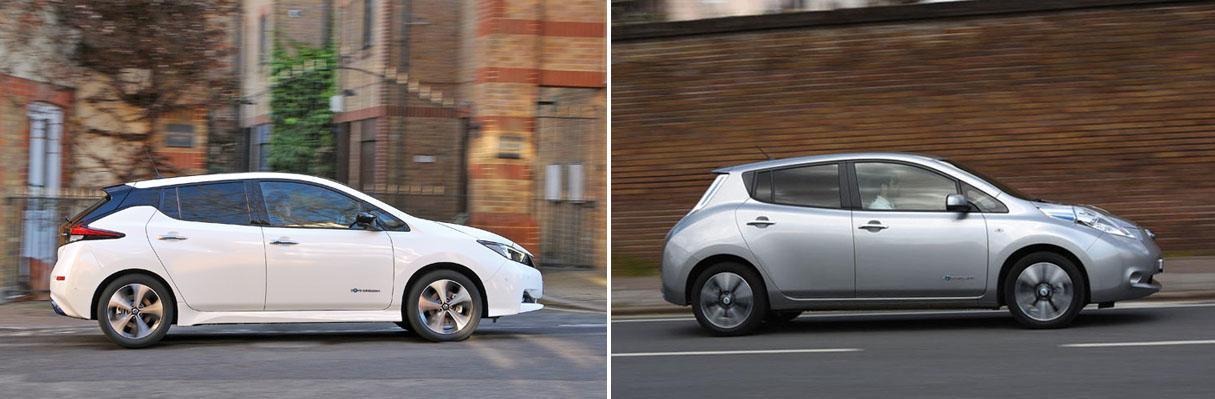 Resultado de imagem para Nissan Leaf new vs old