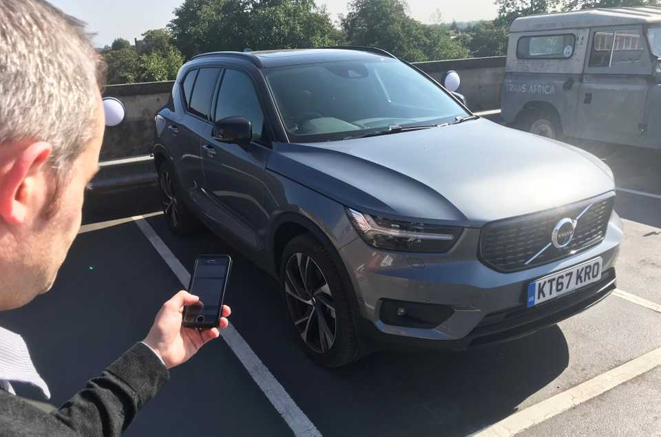 Long-term Volvo XC40 being controlled by iPhone app