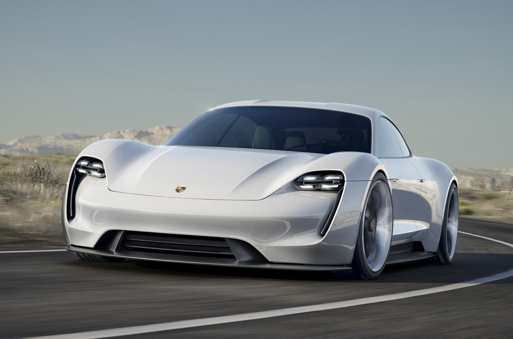 Porsche Mission E concept front