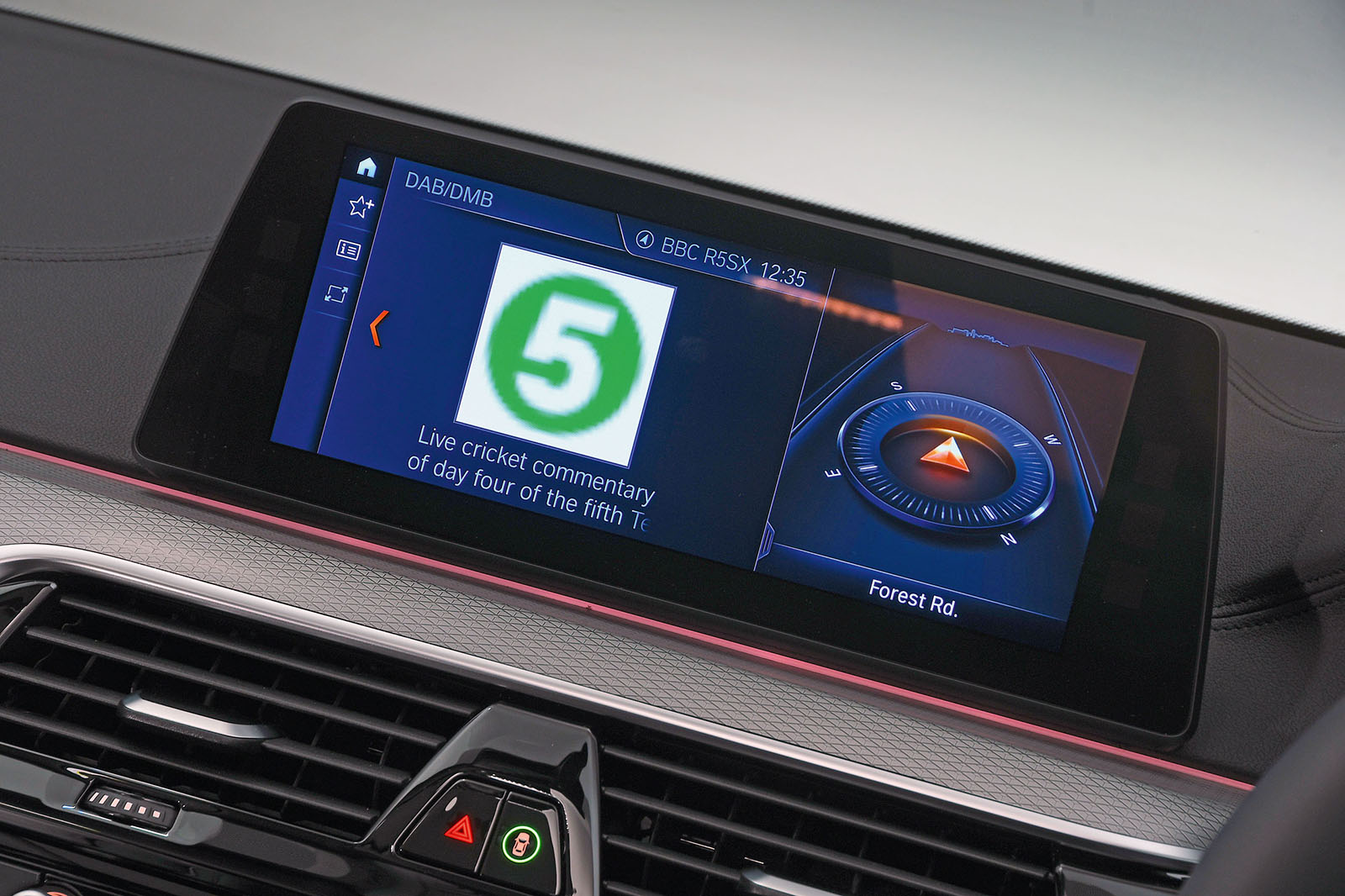 BMW 5 Series infotainment