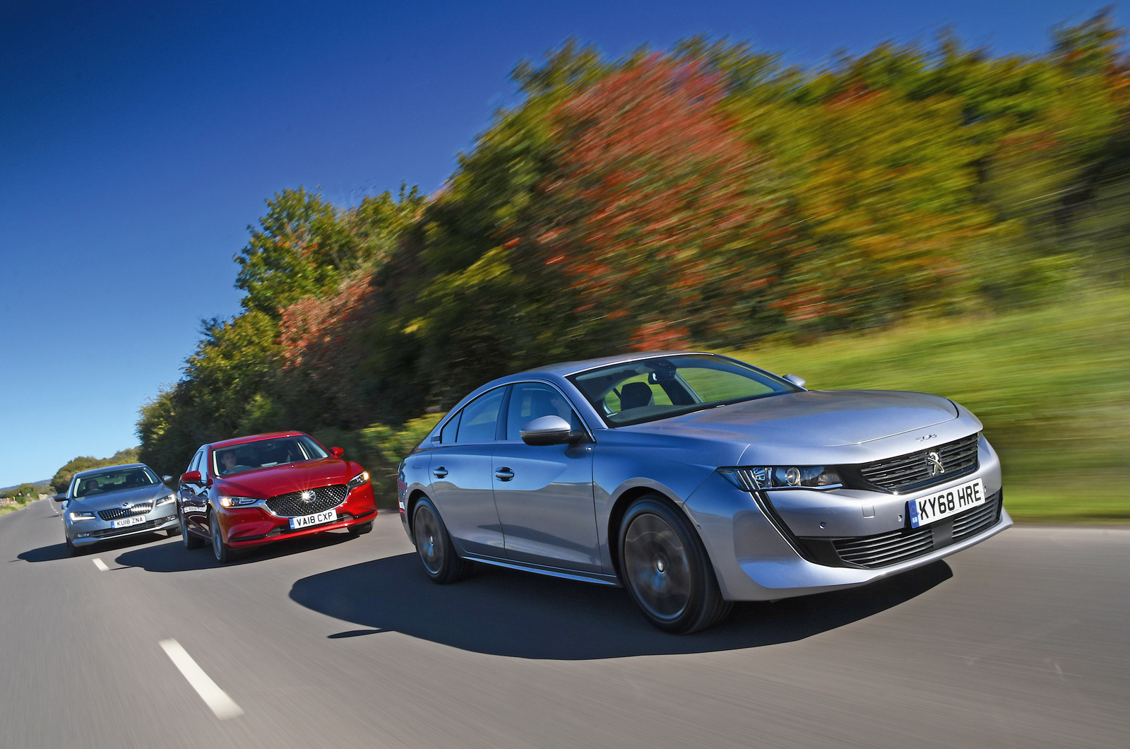 Peugeot 508 with Mazda 6 and Skoda Superb